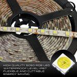 Lumière de bande de LED, MIHAZ 5050 a mené des lumières de bande, 16.4ft 5M 300 LEDs Strip Lights, Warm White a conduit des bandes d'éclairage, étanche LED Strip Light, alimentation pour la maison et la cuisine Décoration (5M 5050 300 leds White Strip ONL image 4 produit