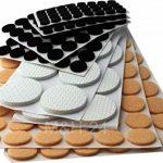 M&H-24 Set 248 Patins autocollants Tampon auto-adhésif en feutre pour pied meuble, chaise, table - Plusieurs formes Rond de la marque M&H-24 image 1 produit