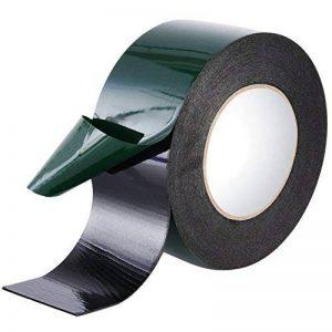 Maveek 10m (50mm) ruban mousse éponge double face ruban adhésif étanche Rouleau de ruban adhésif de montage garnitures de voitures, Noir de la marque Maveek image 0 produit