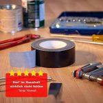 MAXKO ruban toile adhésif, power tape, extra forte, noire, 50 m x 50 mm / ruban tissu de réparation renforcé / ruban tissu renforcé / bande de tissu / ruban adhésif / bande de réparation/ bande avec force d'adhérence particulièrement forte - avec garantie image 5 produit