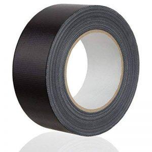 MAXKO ruban toile adhésif, power tape, extra forte, noire, 50 m x 50 mm / ruban tissu de réparation renforcé / ruban tissu renforcé / bande de tissu / ruban adhésif / bande de réparation/ bande avec force d'adhérence particulièrement forte - avec garantie image 0 produit