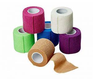 Medca Bandages Autocollant Cohésif Wrap 2 pouces X 5 Yards 6 Pièces (Couleur Arc-en-Ciel) de la marque MEDca image 0 produit