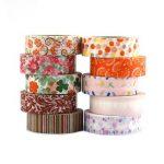 Multi-pattern Washi Tape 10 Rouleaux Ruban Adhésif Papier Décoratif Masking tape Scrapbooking Autocollant de la marque LATH.PIN image 4 produit