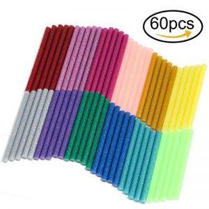Naler Bâton de Colle Chaude 7mm Colle Thermofusible Coloré Paillette pour Décoration Créative DIY 12 Couleurs Lot de 60 de la marque Naler image 0 produit