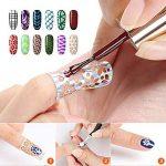 Naler Cadeau de Fête des Mères 288 Nail Sticker Délicat Nail Art Manucure Pointes Nail Tips Décorations (96 Modèles, 24 Feuilles) de la marque Naler image 4 produit