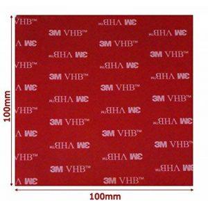 Noir Double Face Acrylique VHB 3m carré Pad–100mm x 100mm x 1mm d'épaisseur–Résistant aux intempéries VHB Heavy Duty ruban–Modèle: 5952 de la marque Simply the Best image 0 produit