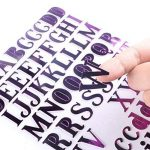 NouveLife Lettres Adhésives Alphabet Lettres Autocollantes Stickers Alphabet Scrapbooking Majuscule Minuscule Caractère de Hauteur 1,5-2,5cm 8 Feuilles de 88 Autocollants pour Scrapbooking Cadeau Bricolage Décoration de Mariage de la marque NouveLife image 3 produit