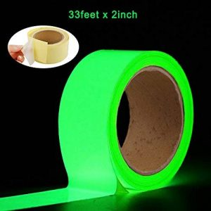 Oumers Glow in the Dark Tape 33 ft x 2 inch Green High Bright Luminous Tape Sticker Removeble waterproof and Photoluminescent de la marque Oumers image 0 produit