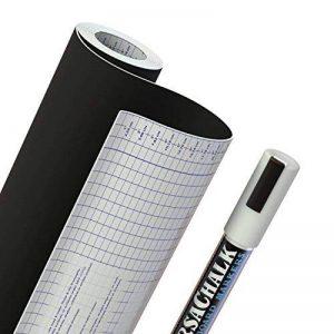 """Papier contact à tableau en vinyle + Marqueur à craie en BONUS - 18"""" x 96"""" (8 PIEDS) - 33% de plus que les autres marques! 33% QUE LES MARQUES DES CONCURRENT de la marque VersaChalk image 0 produit"""