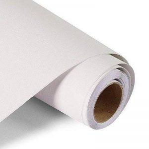 Papier Peint Auto-Adhésif Blanc Sticker Muraux en Rouleau Vinyle Pour Top Cabinet Cuisine Comptoir Garde-Robe Armoire Autocollant 44.5 x 300 cm, fancy-fix de la marque fancy-fix image 0 produit