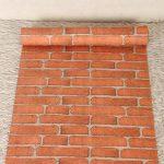 Papier Peint Brique Adhésif 3D Trompe Œil Auto-Collant Adhésif Décoratif Wallpaper Sticker Repositionnable pour Murs Chambre Salon Maison Bureau Meuble(45 x 500cm), Motif Briques murales de la marque Life Tree image 2 produit