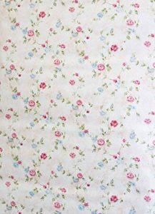 Papier-peint collant en vinyle PVC Motif floral Style shabby chic Blanc/rose de la marque Deco Vinyl image 0 produit
