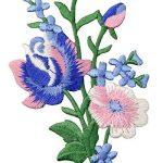 Patch brodé en forme de Fleurs rétro, Bouquet Boho Rose, à coudre ou à coller avec fer à repasser, Rose Bleu de la marque ZEGIN image 1 produit