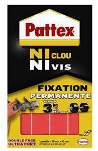 Pattex Pastilles adhésives double face Ni clou ni vis - Fixation ultra forte et extra résistante - 1 x 10 pastilles de la marque Pattex image 0 produit