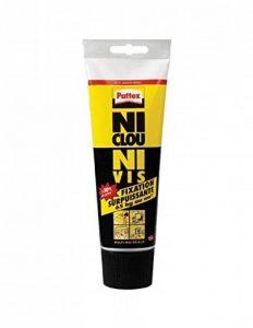 Pattex Tube de Colle Ni clou ni vis extra fort et rapide 260 g - Blanc de la marque Pattex image 0 produit