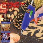 Pistolet à Colle Chaude avec 50 PCS 190 x 70 Bâtons, WisFox Mini Hot glue gun Pistolet Haute Temperature pour DIY Artisanat Petits Bateaux Projets & Package Bricolage et Réparations Rapides dans dans Home & Office, 20 Watts, Bleu de la marque Bystep image 6 produit