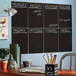 Pixnor A4 Chalkboard Planner mur autocollant calendrier feuilles personnelles note hebdomadaire avec 1pc craie Pack de 8 de la marque Pixnor image 1 produit
