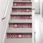 plage 197011 Adhésifs pour Contremarches d'Escaliers Vinyle Rouge 100 x 0,1 x 19 cm de la marque plage image 1 produit