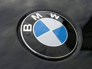 Plaque de remplacement emblème sur le capot avant bleu/blanc 82mm Logo autocollant capot Tuning de la marque Dunwoth image 0 produit