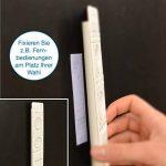 PMI Ruban adhésif en Velcro, blanc–longueur 5m, largeur env. 20mm–Fixation sûr, extra forte, pour travaux de maison, bricolage, travaux manuels, mâle et femelle de la marque iLP image 4 produit