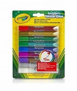 PMS Pastel Glitter Stylos à bille Pack de 6 couleurs assorties de la marque Crayola image 0 produit