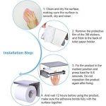 Porte-papier Toilette, Sans Perçage, Installations De Bain, Acier Inoxydable 304, Adhésif 3 M Autocollant de la marque vanow image 4 produit