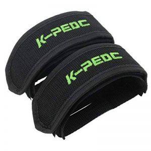 PsmGoods® vélos Fixie Pédale avec double attache Velcro pour BMX Pignon fixe orteil Sangles Clip noir Noir 1 Paire de la marque PsmGoods image 0 produit