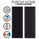 Purovi® 1 m de bande auto-adhésif, boucle et crochets, 20 mm de large, noir de la marque Purovi image 1 produit