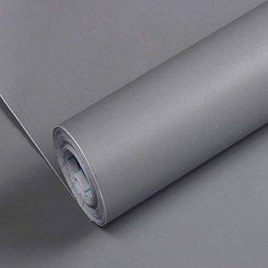 PVC auto-adhésives papier peint mural 10m*0.45m,7677 45cm*10m, gris grand de la marque JINZAI image 0 produit