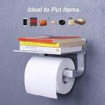 Rabbitgoo Porte Rouleau Papeir Toilettes Fixation Mural avec Etagère de Rangement Auto-adhésif Distributeur Papier Toilette Porte Papier WC de la marque Rabbitgoo image 1 produit