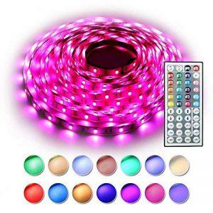 RaThun Ruban à LED Lumineux , LEDs Kit Complet Souple Coloré, y Compris 10M 5050 RGB 300LEDS Multicolore LED Bande ,Télécommande 44 touches, Boîtier de Commande RGB, Alimentation EU 12V 5A de la marque RaThun image 0 produit