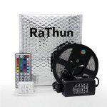 RaThun Ruban à LED Lumineux , LEDs Kit Complet Souple Coloré, y Compris 10M 5050 RGB 300LEDS Multicolore LED Bande ,Télécommande 44 touches, Boîtier de Commande RGB, Alimentation EU 12V 5A de la marque RaThun image 1 produit