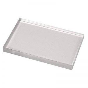 Rayher Hobby 28876000 bloc acrylique pour tampon en caoutchouc et en silicone – accessoire scrapbooking pour bien positionner ses tampons – plaque acrylique 125 x 172 x 12 mm sous blister – gris de la marque Rayher Hobby image 0 produit