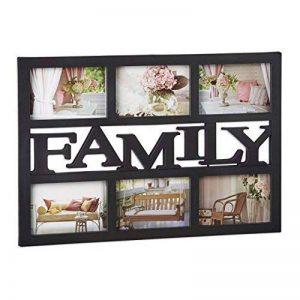 Relaxdays Cadre photos pêle-mêle 6 photos Galerie collage cadre mural Family famille 33 x 48 cm, noir de la marque Relaxdays image 0 produit