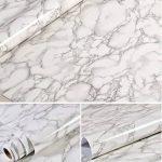 Revêtement autocollant gris marbre - Pour meubles, plans de travail et murs - 61x 200,7cm de la marque MayGreeny image 5 produit