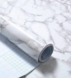 Revêtement autocollant gris marbre - Pour meubles, plans de travail et murs - 61x 200,7cm de la marque MayGreeny image 0 produit