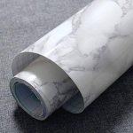 Revêtement autocollant gris marbre - Pour meubles, plans de travail et murs - 61x 200,7cm de la marque MayGreeny image 1 produit