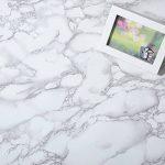 Revêtement autocollant gris marbre - Pour meubles, plans de travail et murs - 61x 200,7cm de la marque MayGreeny image 2 produit