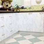 Revêtement autocollant gris marbre - Pour meubles, plans de travail et murs - 61x 200,7cm de la marque MayGreeny image 4 produit