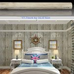 Revêtement en vinyle auto-adhésif Aspect de grain de bois pour comptoir de cuisine, placards, tiroirs, murs, travaux manuels (45cm x 10m, brun clair) de la marque F&U image 2 produit