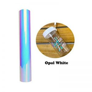 Rouleau adhésif holographique blanc de chrome de opale 30.5x122cm (1x4ft) pour la décoration de la marque VINYL FROG image 0 produit