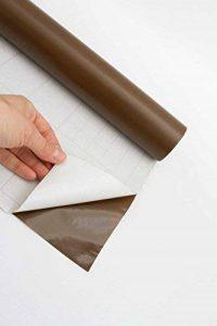 Rouleau de 10m en plastique collant vinyle autocollant Papier peint Sticker mural en PVC meubles (Marron) de la marque Deco Vinyl image 0 produit