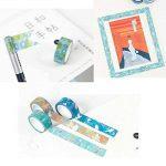 Ruban adhésif en papier japonais washi, Aulola® - Pack de 9 rouleaux - Pour carnet de notes, album, agenda, décoration téléphone, emballage cadeau pour fête de bureau Style 2 (Pack of 9) de la marque Aulola image 3 produit