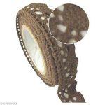 Ruban tissu adhésif - Dentelle coton Chocolat - 2,5 m. de la marque Pw International image 1 produit