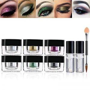 RUIMIO Poudre Glitter 6 Couleurs avec Colle et Pinceau pour Ombres à Paupières, Makeup, Nail Art de la marque Pixnor image 0 produit