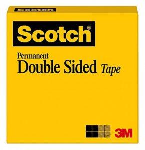 Scotch double face solide Bande, permanent, 1/5,1x 2286cm, livré dans une boîte (665) de la marque 3M image 0 produit