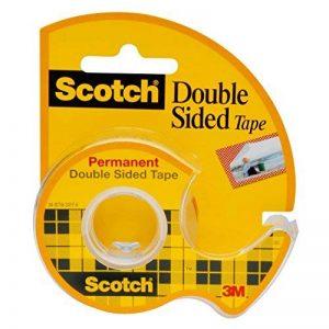 Scotch Ruban adhésif double face, 12,7mm x 11,4m–1rouleau adhésif dans son distributeur de la marque Scotch image 0 produit