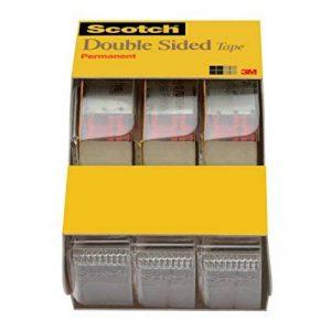 Scotch Ruban adhésif double face avec distributeur, pas de saleté, 1/5,1x 635cm, 3/Lot Caddy (3136) de la marque Scotch image 0 produit