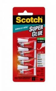Scotch Usage Unique Super Glue Gel 4/Pkg-0,017 Onces de la marque Scotch image 0 produit