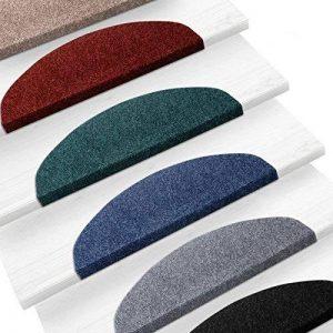 Set de 15 marchettes d'escalier etm® | surface confortable et antidérapante | taille 23x65cm | couleurs diverses - anthracite de la marque etm image 0 produit